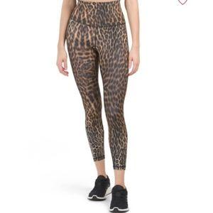 NWT Yogalicious Cheetah High Waisted Leggings S